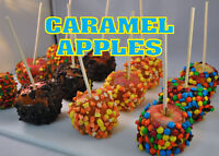 """CARAMEL APPLES 14""""x10"""" STORE RETAIL FOOD COUNTER/WALL SIGN"""
