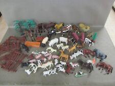 HUGE Safari Ltd Schleich Papo Marx? Lot Animals Horses Farm Fence trees Vintage
