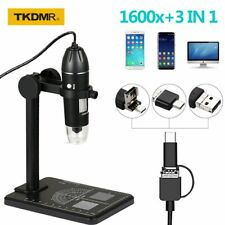 Tkdmr Adjustable 1600x Magnification Electronic Digital Microscope Plastic Stand