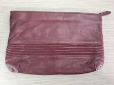 Vintage Contessa Red Genuine Leather Clutch Purse - Made in Italy