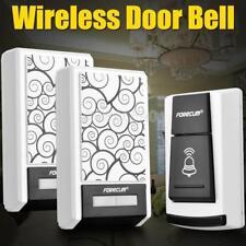 36 Chimes Songs Waterproof Wireless Doorbell Remote Control 2 Receiver Door bell
