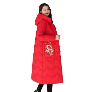 Womens Retro Floral Embroidered Chinese Ethnic Cotton Padded Jacket Coat Outwear
