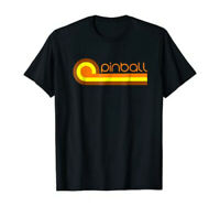 Retro 70s Pinball T-Shirt - Old School Pinball Design by Turbo Volcano *NEW*