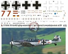 "Peddinghaus 1/72 Bf 109 G-4 ""Red 7"" Markings Restored Airplane MAC Germany 1968"