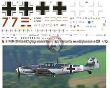 "Peddinghaus 1/72 Bf 109 G-4 ""Red 7"" Markings Restored Airplane MAC Germany 1968"