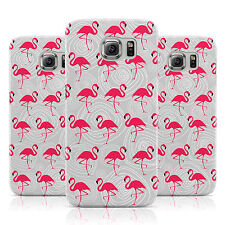 GREY SWIRL RED FLAMINGO PATTERN CASE COVER FOR SAMSUNG GALAXY MOBILE PHONES