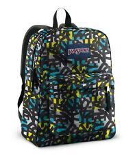 JANSPORT Superbreak Backpack Blinded Blue Alien Green Jumble Jan School Book Bag