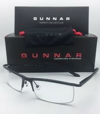 New GUNNAR Computer Glasses EMISSARY 55-18 Onyx Black Frame w/ Crystal Clear