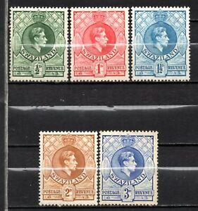 Swaziland KG VI era mint no gum collection,stamps as per scan(10321)