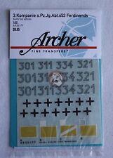 Archer 1/35 Ferdinand Markings 3. Kompanie s.Pz.Jg.Abt.653 (4 vehicles) AR35177