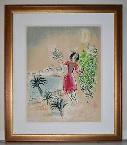 Marc Chagall Original Color Lithograph Ville De Nice