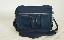 MZ Wallace 'Roxy' Crossbody Blue Nylon Bedford Handbag