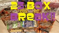 NFL Box Break 23 Boxes Football Cards Random Teams 21 Autographs!!!