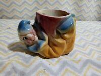 Vintage Shawnee Jo Jo Clown Planter Flower Pot U.S.A 607. Baby Nursery