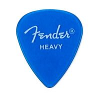 Fender California Clear™ Picks, Heavy, Lake Placid Blue, 12 Count