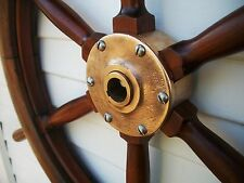 "c.1795 32"" antique boat yacht maritime ship wheel  nautical decor collectible"