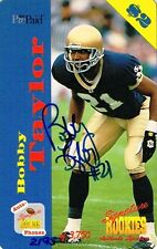 BOBBY TAYLOR SIGNED 1995 SIGNATURE ROOKIES $2 PHONE CARD AUTO ~AUTHENTIC