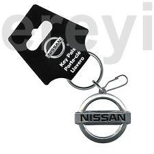 NISSAN CLASSIC LOGO METAL KEYCHAIN Car Auto Import Performance Chrome Emblem New