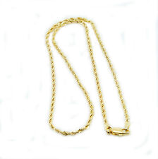 9ct Rolled Gold Rope Chain 18 Inch Gift Boxed
