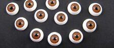 11mm  Doll Making Craft BROWN  Eyes Acrylic Doll Eyeballs 12pcs  BNIP