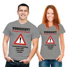 Gestreifte bequem sitzende Herren-T-Shirts mit Motiv