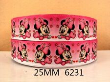 1 Metri Rosa Baby Minnie Mouse MULTIFUNZIONE 1 in (ca. 2.54 cm) Capelli Fiocchi Fasce Card Making