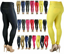 New Ladies  Skinny fit  coloured Stretchey jeans Womens Jeggings Trousers