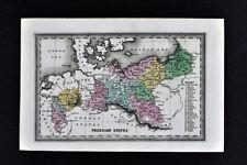 1834 Carey Map Prussia States Germany Berlin Leipzig Danzig Breslau Poland