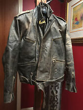 GERMAN LEATHER MOTORCYCLE JACKET KENVELD M-L