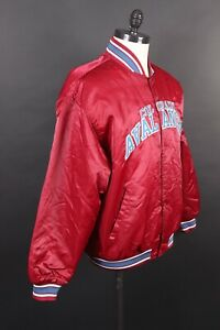 VTG STARTER Colorado Avalanche NHL Hockey Satin Coat Jacket Mens Size XL