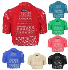 Women's Cotton None Short Sleeve Boleros Shrugs Jumpers & Cardigans
