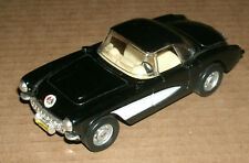 1/39 Scale 1957 Chevrolet Corvette Diecast Model Black Replica - MC Toy Hot 57