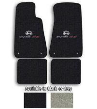 Official GM Licensed Impala SS Logo Cutpile Carpet Floor Mats - Choose Mat Color
