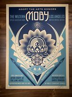 Shepard Fairey Obey Giant Adopt the Arts Lotus Art Print Poster S/N Ed Of 500
