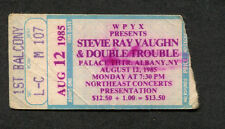 1985 Original Stevie Ray Vaughan Concert Ticket Stub Albany Ny Soul to Soul