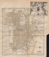 JAPAN. Kyoto 1907 old antique vintage map plan chart