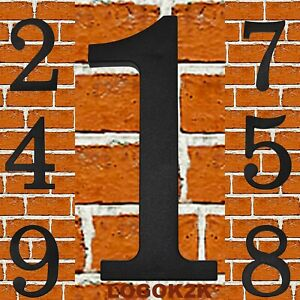 HOUSE NUMBER PLAQUES SIGN DOOR GATE NUMBERS 170.5mm high 1 2 3 4 5 6 7 8 9 0 NEW