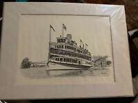Peter Stuyvesant Steamer Boat Art Print WM Ewen Jr Hudson River Day Line NY