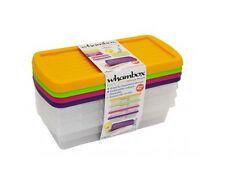 Set De 4 práctico Cajas de almacenamiento seguro Clip En Tapa 800ml alimentos apilable juguetes seguros