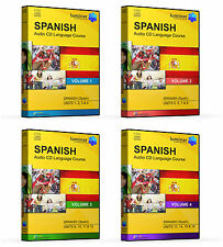 Learn By Listening - Spanish Language Course on 16 Audio CDs, 4 Complete Volumes