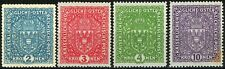 Austria 1917 Issues On Ordinary Paper Complete Set of 4 MNH Scott's 164 to 167