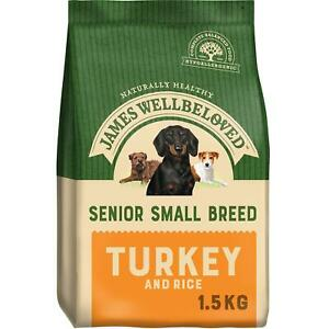 1.5kg James Wellbeloved Senior Natural Dry Dog Food Turkey & Rice
