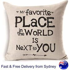 My favorite place love hug armchair lounge sofa Cushion Cover Home Present Gift