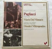 PAGLIACCI RUGGERO LEONCAVALLO LP MARIO DEL MONACO VINYL ITALY 1980 NM/NM