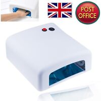 36W UV Lamp Light Art Gel Curing Manicur Nail Dryer Varnish Free 4 x 9W Blubs