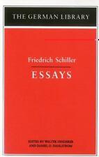 German Library: Friedrich Schiller - Essays Vol. 17 by Friedrich Schiller (1993,