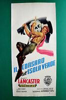 L08 Plakat Die Pirat Dell'Isola Grün Burt Lancaster Später Robert Siodma