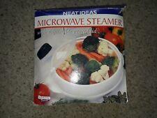 Microwave Steamer With Adjustable Vented Lid. Neat Ideas. NIB.