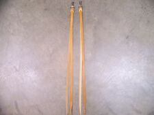 One Pair Leather Saddle Strings w/Clip & DeeRing Hardware Long Length Light Oil