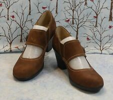 softspots Cassidy 748660 Brown Leather Upper Mary Jane Style Pumps Size 7M New